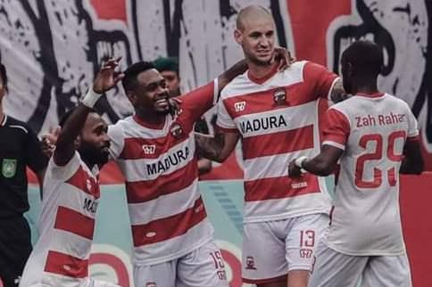 Gol Tunggal David Laly Bawa Madura United Menang Atas Borneo FC