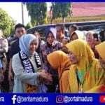 Jelang Pilpres, Istri Sandi Kunjungi Taman Sare Keraton Sumenep