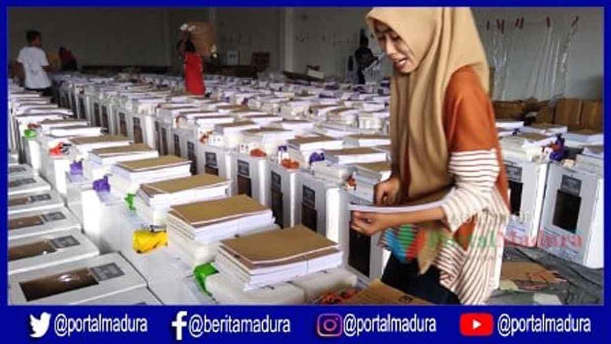 H-2 Pemilu 2019, KPU Sumenep Masih Kekurangan Surat Suara