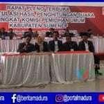 KPU Sumenep Mulai Rekapitulasi Suara Tingkat Kabupaten
