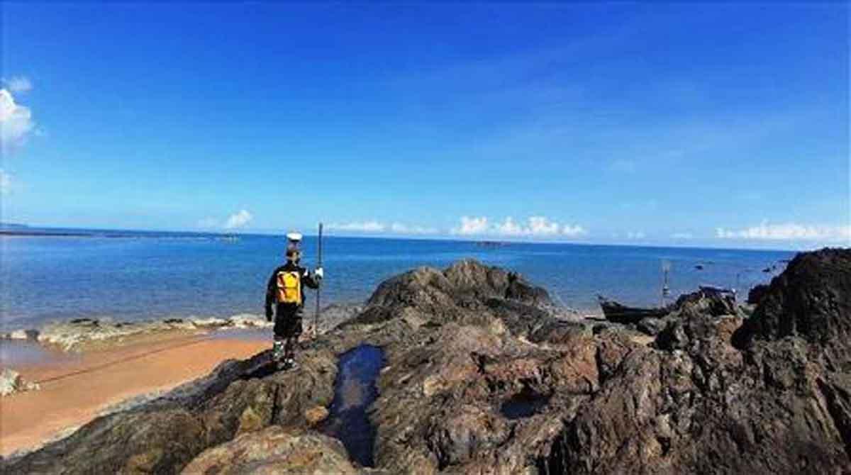 Pushidrosal survei peta bawah laut Temajuk, Kalimantan Barat