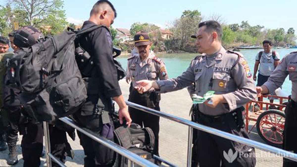 Amankan Pilkades, 720 Personel Polres Sumenep Diberangkatkan ke Kepulauan