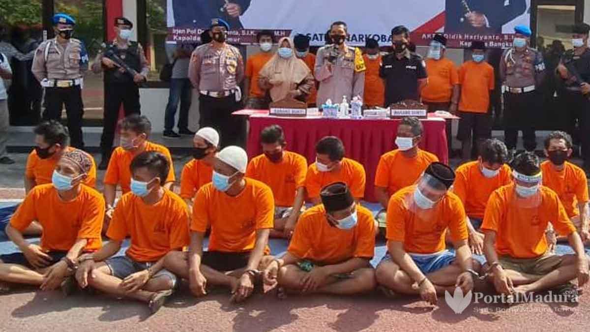 Bongkar 28 Kasus Narkoba Polres Bangkalan Ringkus 40 Tersangka