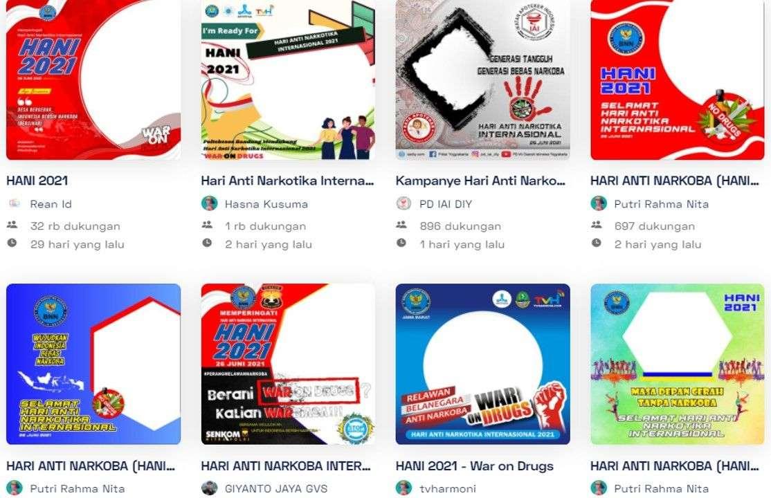 twibbon hari anti narkotika internasional 2021